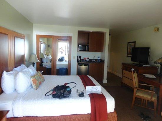 Shore Cliff Hotel: Zimmer vom Balkon aus
