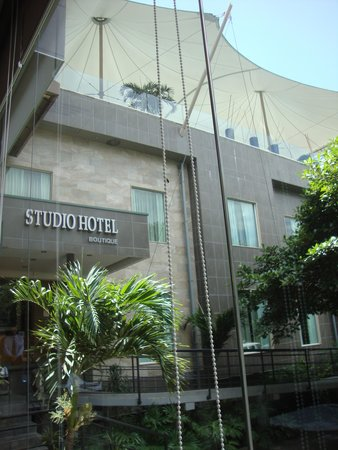 Studio Hotel: Hotel front showing rooftop pool