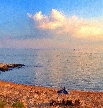 Madison Beach Hotel, Curio Collection by Hilton: Sun setting at the MBH beach- photo glaze app.