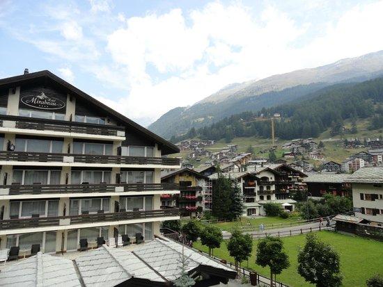 Hotel Mirabeau: vue sur zermatt