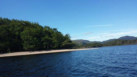 Loch Maree Hotel: The Gorgeous Isle Maree,  accessed by Raymond's boat