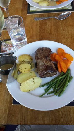 Loch Maree Hotel: The most tender venison steak ever - butchered and cooked by the owner of the Hotel, Raymond