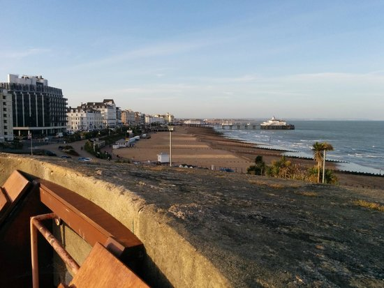 Great views along Eastbourne seafront from the roof of The Wish Tower