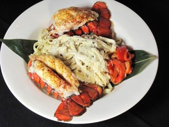 Mr. Paul's Chophouse: Baby Lobster Tail and Pasta