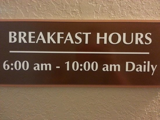 AmericInn Lodge & Suites Medora : Breakfast hours