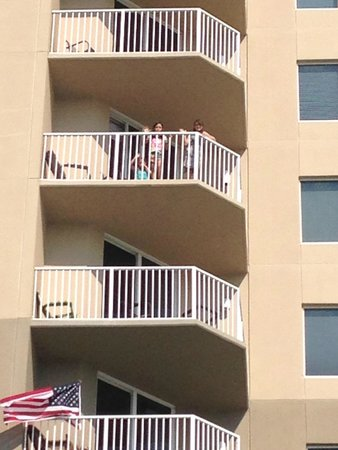 Tidewater Beach Resort: Balcony on East side of building unit 700