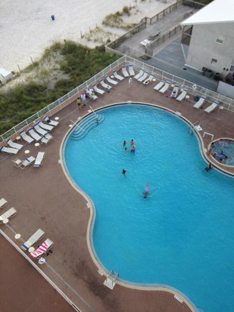 Tidewater Beach Resort: East pool view from room 700