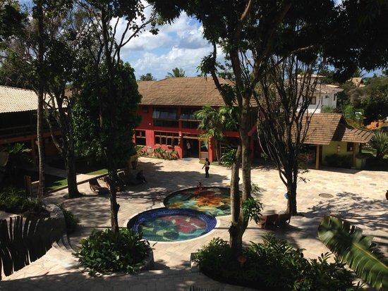 Mar Paraiso Resort: Vista do Apartamento - Recepção e piscina infantil