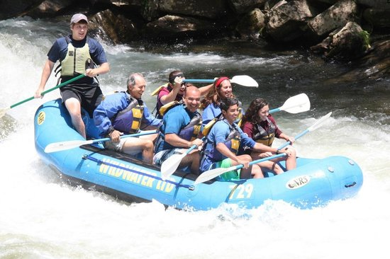 Sleep Inn Bryson City - Cherokee Area: Wild Water Rafting At Noc