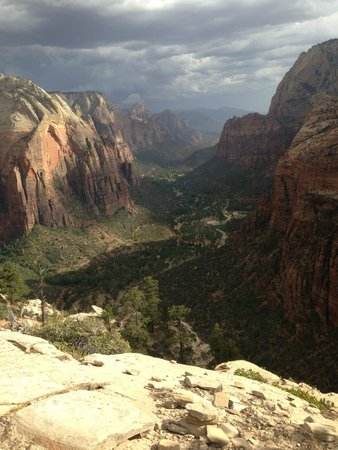 Angel's Landing: View from the very top - rainstorm coming