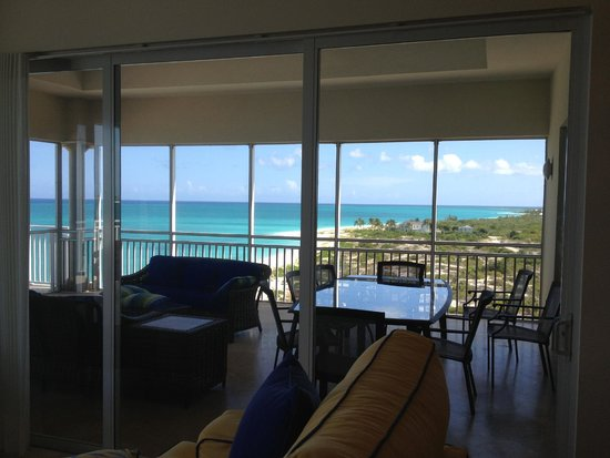 The Venetian on Grace Bay: View from living room looking into screened in porch