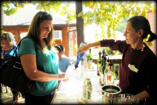 Villa Antonio Winery: my friend doing the wine tasting.  She got her $ worth!  lol