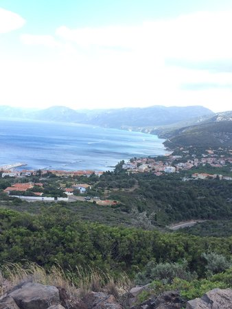 Hotel Nuraghe Arvu : View of cala gonone from the mountain