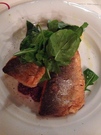 Trilogija : Baked sea bass and zesty mash