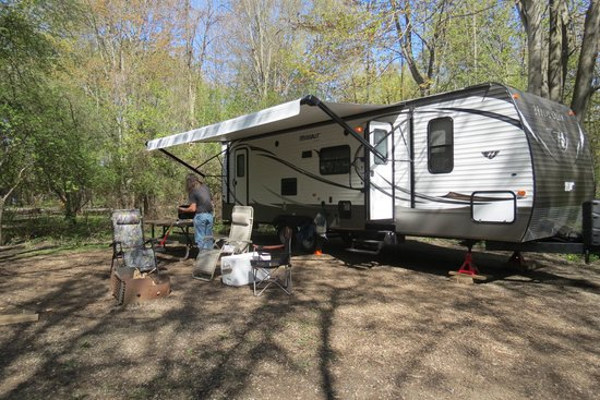 Point Farms Provincial Park: All set up and ready to camp!