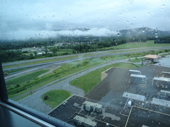 Seneca Allegany Resort & Casino: an amazing view from our room on a rainy day