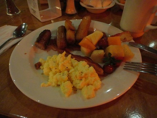 Seneca Allegany Resort & Casino : my breakfast at the buffet