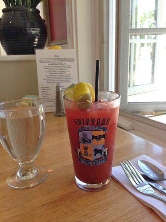 Mae's Cafe : Bloody Mary by the window