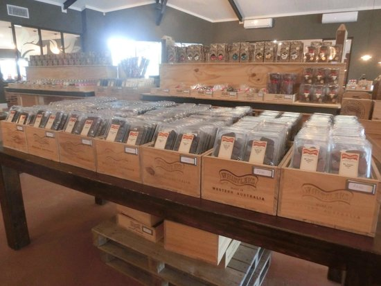 Whistlers Chocolate Co: Displayed nicely