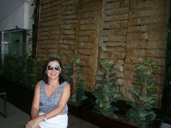 Hotel Deville Prime Cuiabá: De novo a parede relaxante, maravilhosa.
