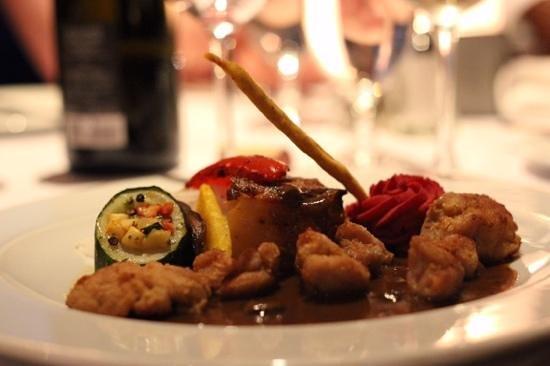 Restaurant a L'Imparfait : Ris de veau sauce champignons sauvages.