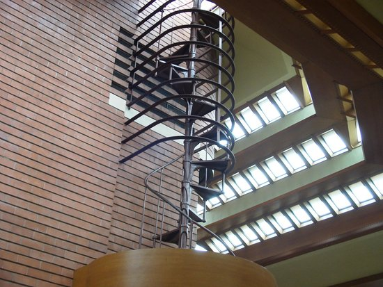 Wingspread: Staircase to observation tower