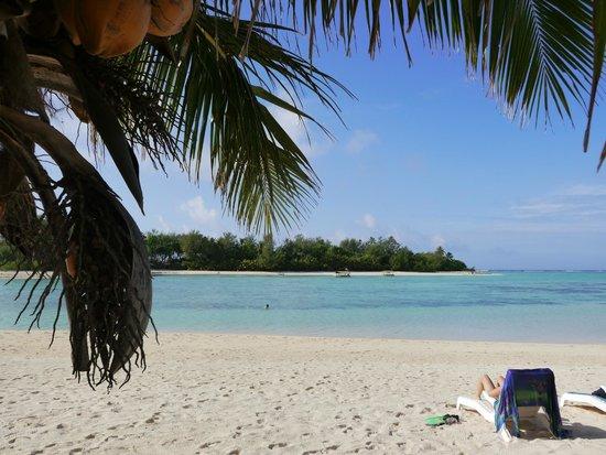 Muri Beach Club Hotel: View  of the motu from the hotel