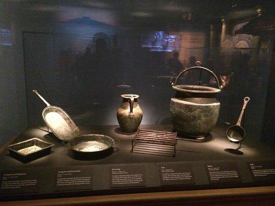 California Science Center: Cooking utensils at Pompeii exhibit