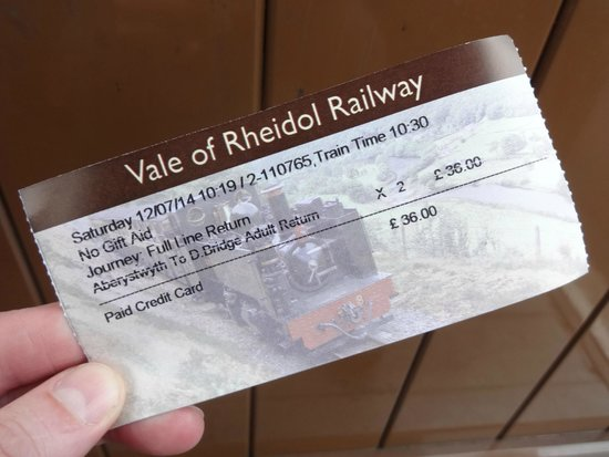 Vale of Rheidol Railway: Ticket