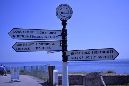 Lizard Lighthouse Heritage Center: Signs showing distance to other lighthouses