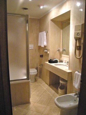 Albergo Santa Chiara: Room 451 small but adequate bath