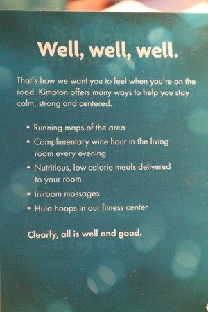 Kimpton Hotel Monaco Philadelphia: More Kimpton info