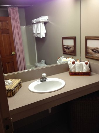 River Rock Lodge: Bathroom
