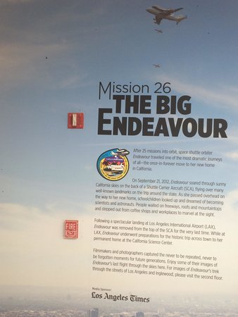 California Science Center: Mission 26 of the endeavor