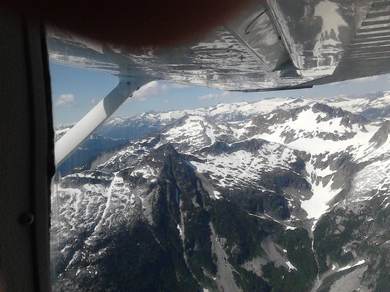 The view on Sea to Sky Air's sightseeing flight!