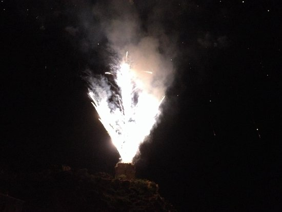 Genoise Tower: Fireworks from the tower