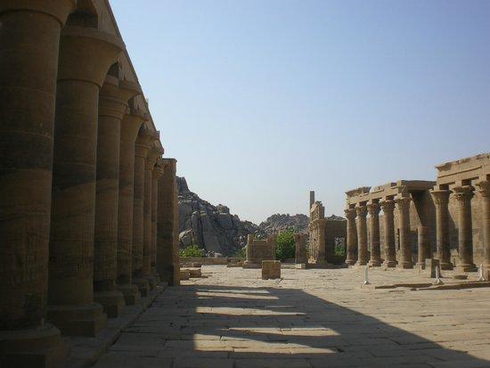Temple de Philæ : Colunas do templo