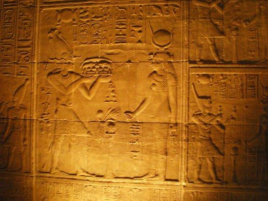 Temple de Philæ : Afresco do templo