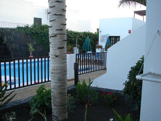 Las Lilas Apartments: jardin y piscina algo pequeña