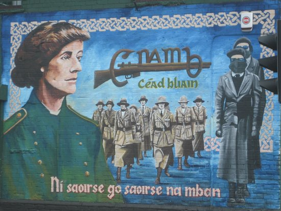 One of the many murals on the Falls Road