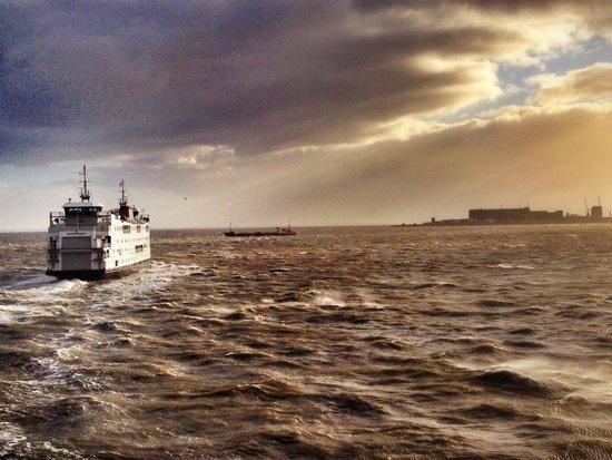 't Veerhuis Lands End : Prachtig uitzicht. Bij mooi en bij minder weer!