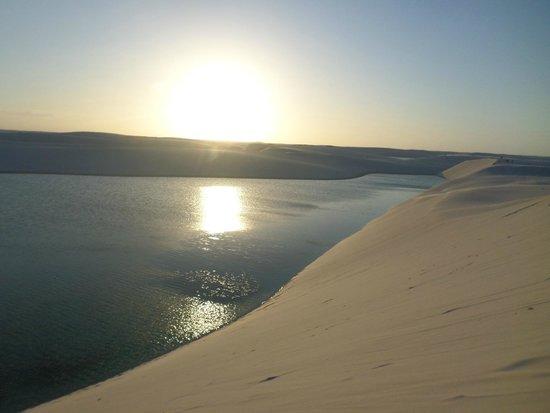 Bonita and Azul lakes: Por do sol!