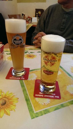 Restaurant Johanniter : two of the many beer choices