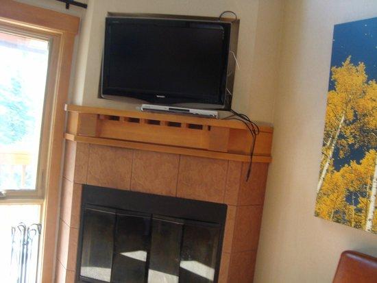 Hidden Ridge Resort : tv in living room