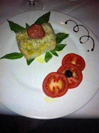 Toscana: Delicious aubergine pate .