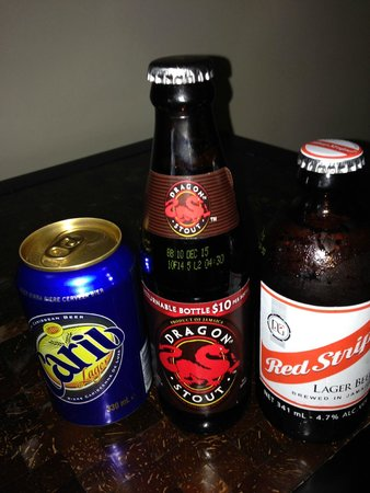 Secrets Wild Orchid Montego Bay: choices of beer in the room
