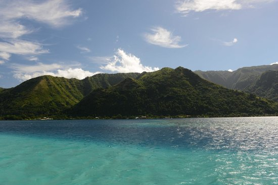 Hiti Moana Villa : vue du récif