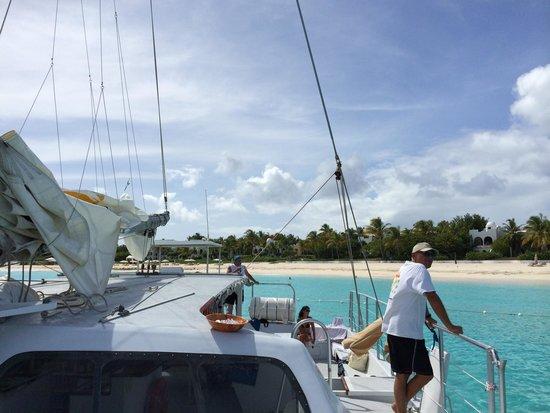 Simpson Bay, St-Martin/St Maarten: The captain