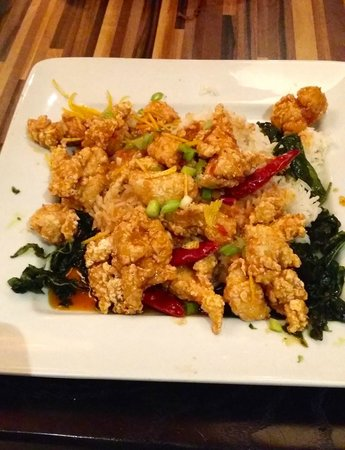 Ling & Louie's Asian Bar and Grill : orange peel chicken