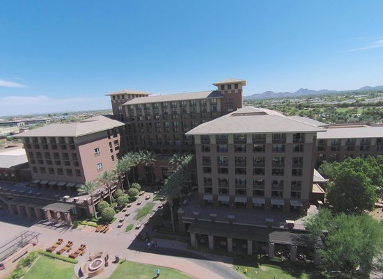 The Westin Kierland Resort & Spa: View of hotel from my aerial drone